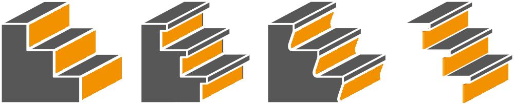 Verschillende soorten trappen van EénTreeDrie